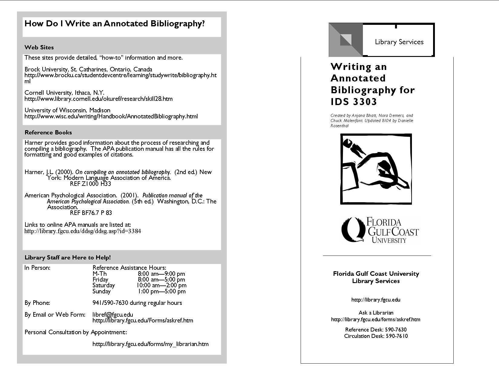 Apa style annotated bibliography website
